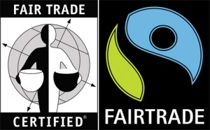 Here are some examples of Fair Trade labels. Look for these labels on your products.